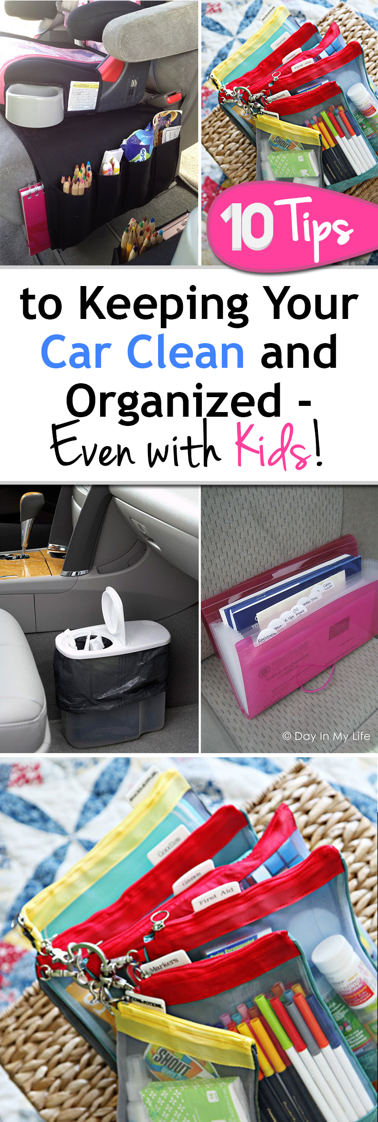 Car organization, car cleaning tips, car hacks, keep your car clean, popular pin, cleaning with kids.
