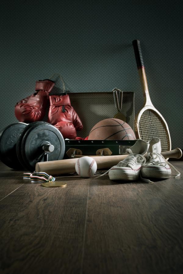 Unused sports equipment to throw away