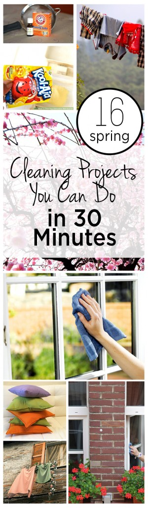 16 Spring Cleaning Projects You Can Do in 30 Minutes