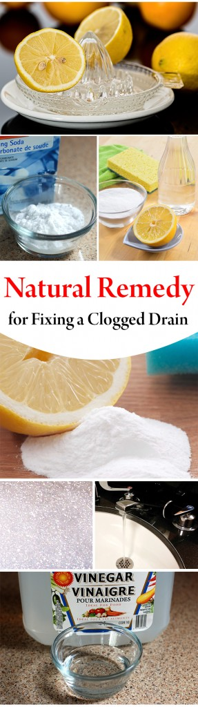 Natural Remedy for Fixing a Clogged Drain