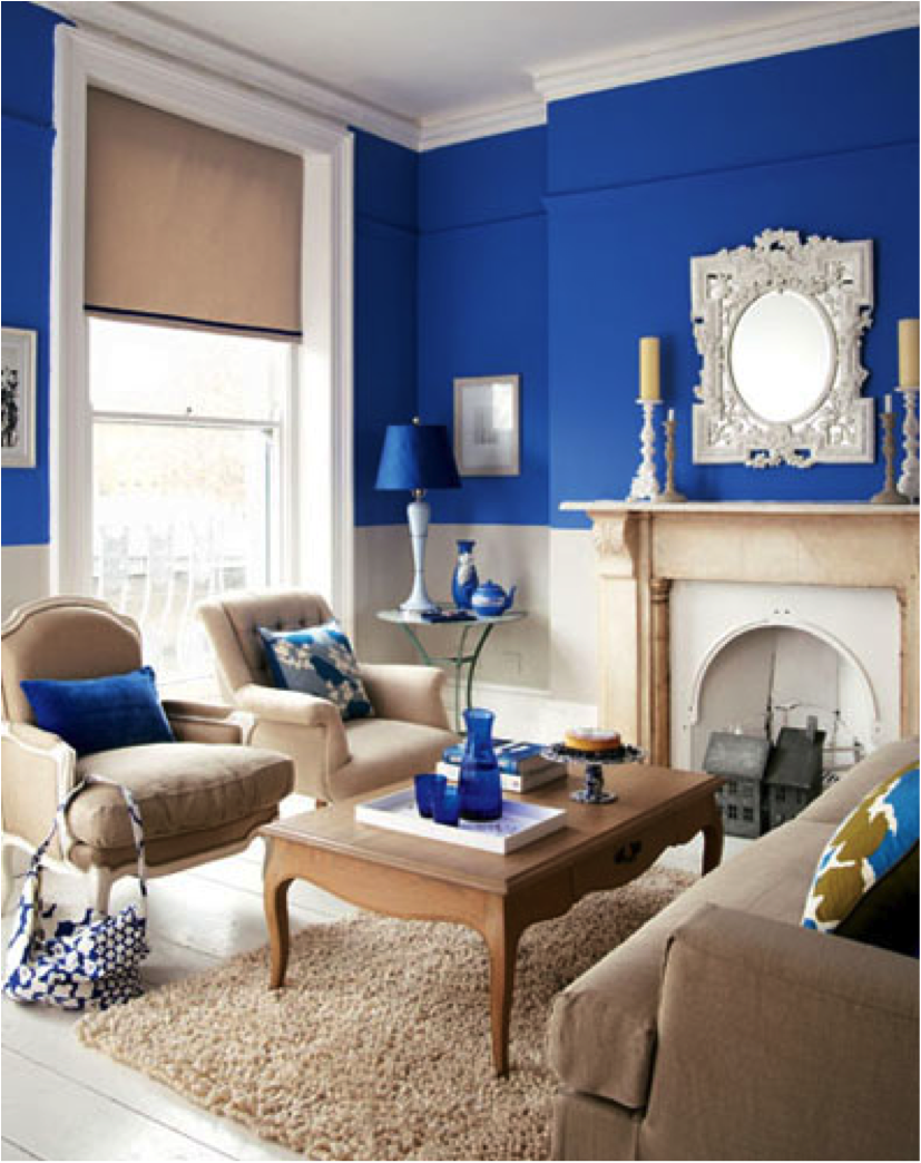 38-standout-color-idea-for-a-small-living-room-homebnc