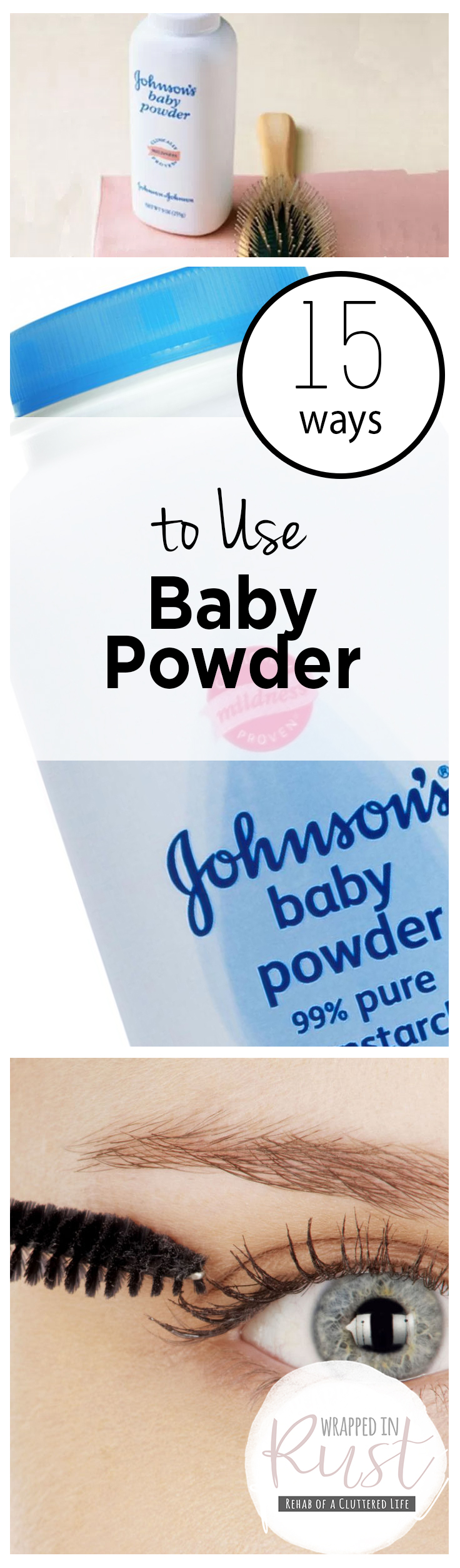 15 Ways to Use Baby Powder| How to Use Baby Powder, Baby Powder, Things to do With Baby Powder, Natural Living, Home, Home Hacks, Home Tips and Tricks