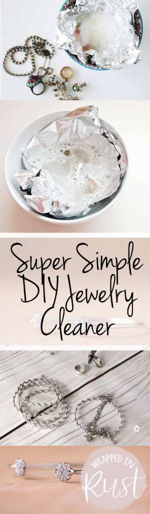 Super Simple DIY Jewelry Cleaner  Jewelry Cleaner, How to Clean Jewelry, Fast Ways to Clean Jewelry, Quickly Clean Jewelry, Easy Ways to Clean Jewelry.