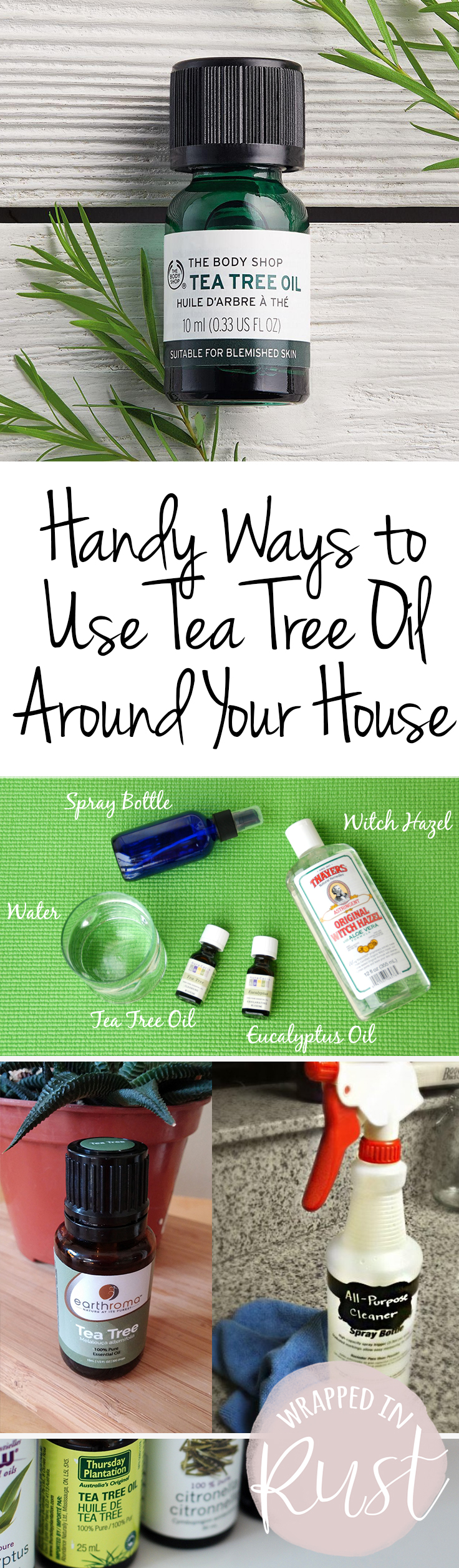 Handy Ways to Use Tea Tree Oil Around Your House| Tea Tree Oil, How to Use Tea Tree Oil Around the Home, Cleaning With Essential Oils, How to Clean, Cleaning Hacks, Cleaning Tips and Tricks, Uses for Tea Tree Oil, Popular Pin
