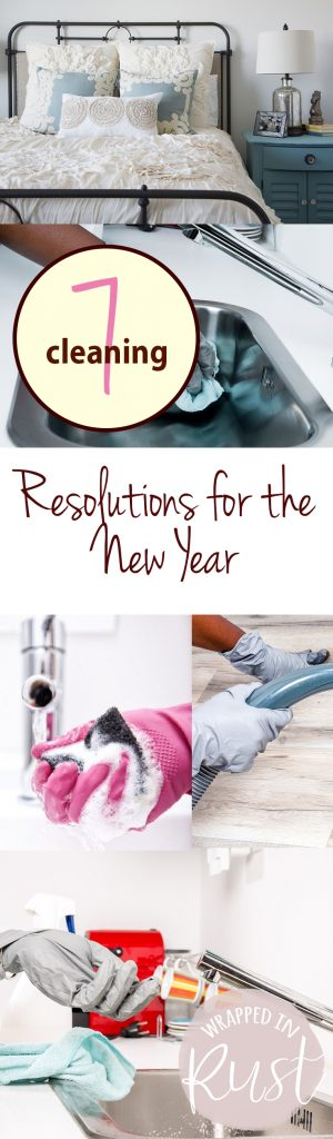 7 Cleaning Resolutions for the New Year| New Years Resolutions, Cleaning Tips, Cleaning Tips and Tricks, New Years, Resolutions for the New Year, Popular Pin #Cleaning #CleaningTips #NewYearsResolutions