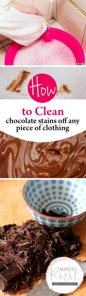 How to Clean Chocolate Stains Off Any Piece of Clothing  Cleaning, Cleaning Tips, Cleaning Tricks, DIY Cleaning Tricks, Laundry Hacks, Popular Pin #Cleaning #CleaningTricks