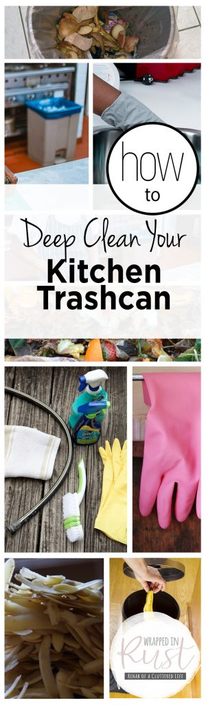 How to Deep Clean Your Kitchen Trashcan| Clean your Kitchen, How to Clean Your Kitchen Trashcans, How to Clean Kitchen Trashcans, Kitchen Cleaning Hacks, Popular Pin #Kitchen #CleanYourTrashcan