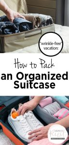 Organized Suitcase | How to Have an Organized Suitcase | Travel Wrinkle Free | Travel Tips and Tricks | Organized Suitcase Ideas