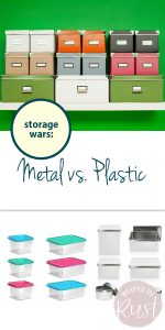 Storage | Storage Hacks | Metal Storage Containers | Plastic Storage Containers | Metal vs. Plastic Storage Containers | Metal vs. Plastic Containers | Storage Containers