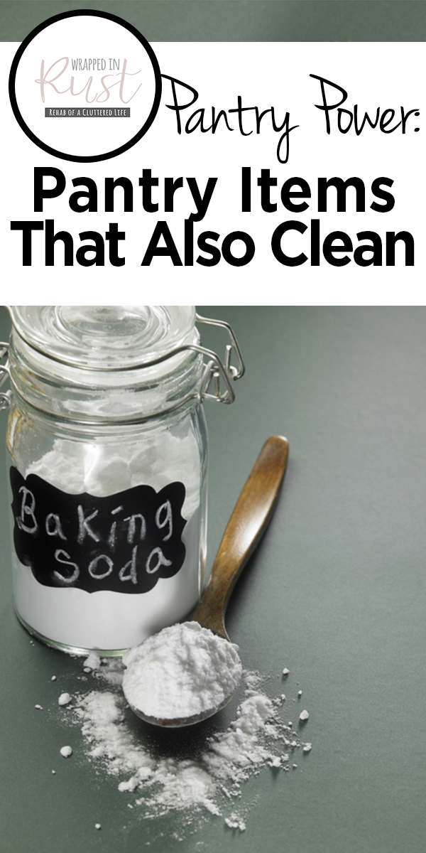Pantry Items That Also Clean | clean | cleaning hacks | pantry items | cleaning products | homemade cleaning products | all natural cleaning products