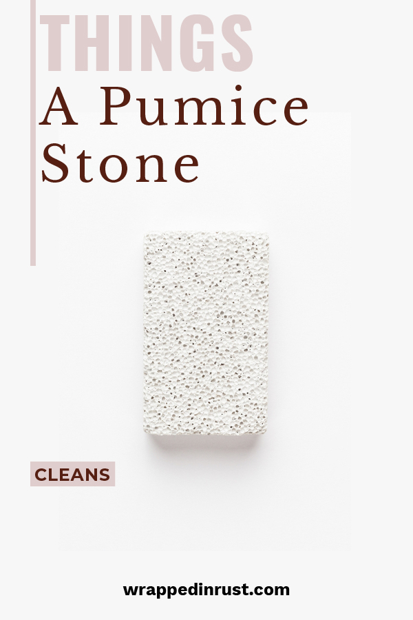 Everyone knows that a pumice stone works wonders on toilet bowl stains. If a pumice stone can clean tough stains like those, have you ever considered what else it could clean? Well, the wondering is over because we have some suggestions. Keep reading to learn more about the amazing things a pumice stone will clean. #cleaningtips #pumicestoneoptions