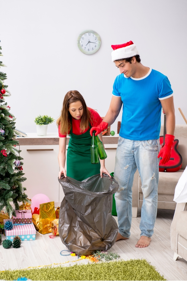Are you prepared to deal with the Christmas morning chaos? Make sure you have a system to help you with all the mess afterwords.